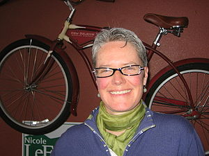 Nicole LeFavour - LeFavour is a strong proponent of bicycling infrastructure