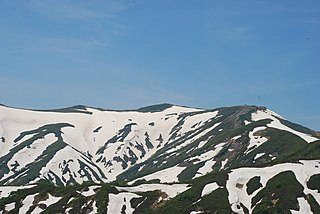 Mount Iide mountain in Fukushima Prefecture, Japan