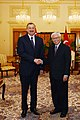 Ilham Aliyev and President of Singapore Tony Tan held a meeting in an expanded format with the participation of delegations, 2012 02.jpg