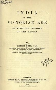 India in the Victorian Age - an economic history of the people.djvu