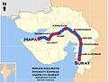 Intercity Express (Hapa - Surat) Route map.jpg