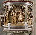 Interieur, details van de preekstoel met scènes uit het leven van Sint-Franciscus - Delft - 20421193 - RCE.jpg