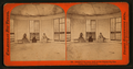 Interior of the House built on the original Big Tree Stump, Calaveras County, by Lawrence & Houseworth.png