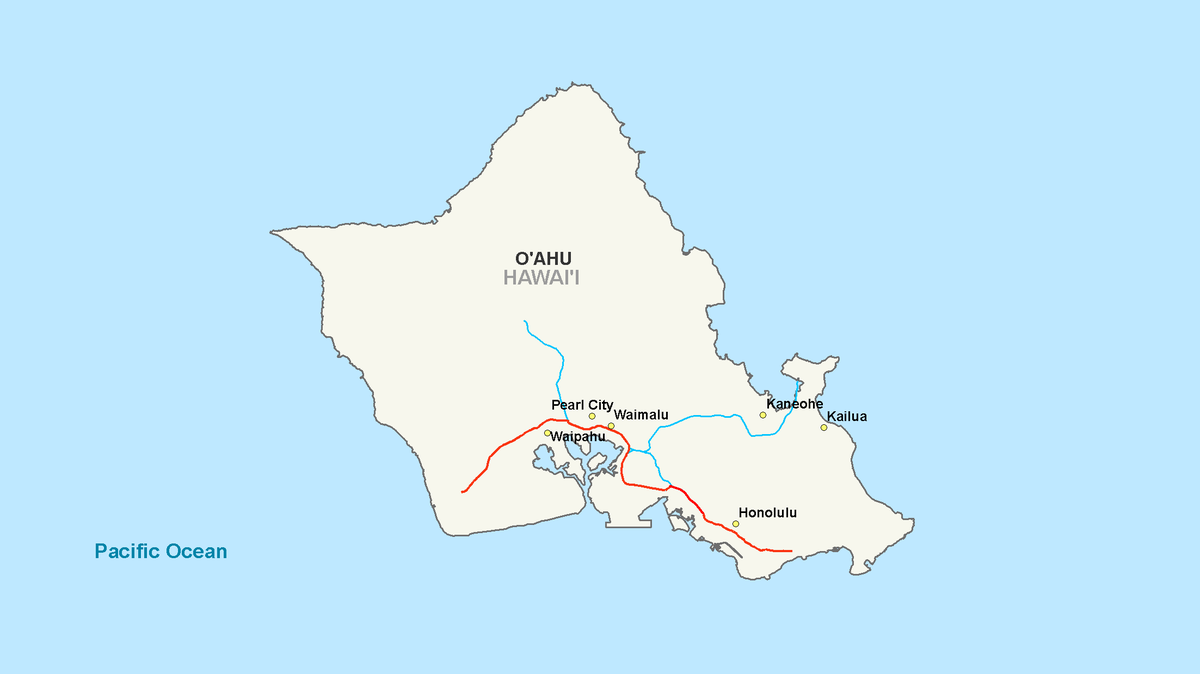 Interstate H Wikipedia - Hawaii cities map