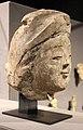 Iran, forse rayy, testa di principessa, 1190-1210 ca., stucco.JPG