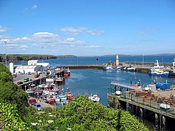 Dunmore East harbour and lighthouse
