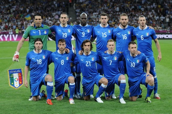 Italy national football team Euro 2012 vs England
