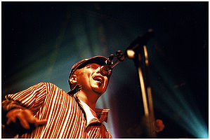 Neville performing at the 2005 Bourbon Street Fest