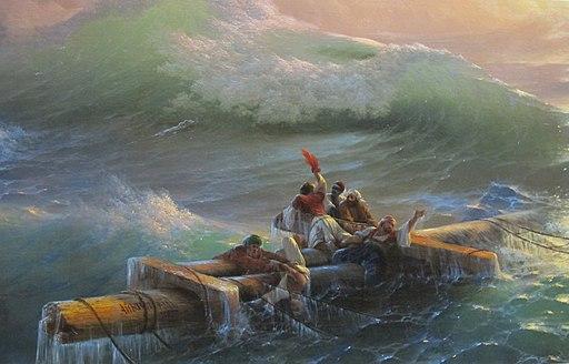 Ivan aivazovsky, la nona onda, 1850, dett