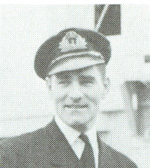 HMCS Fredericton (K245) - Lt. Cdr. J.E. Harrington who was commander 1942–1944.