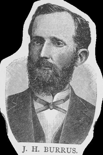John Houston Burrus - Image of Burrus from 1887