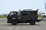 JASDF AE-3 generator truck(ISUZU ELF 250, 51003) left side view at Komatsu Air Base September 17, 2018.jpg