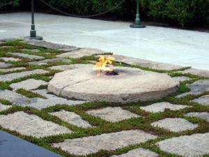 Eternal Flame at John F. Kennedy's gravesite