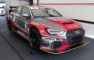 TCR International Series - An Audi RS3 LMS TCR in the ADAC TCR Germany Touring Car Championship paddock.