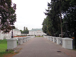 Jabłonowski Palace in Kock - Bridge, moat and strengthen - 04.jpg