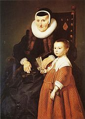 Grandmother with Granddaughter - 1639