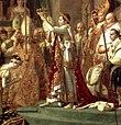 Napoleón coronando a Josefina