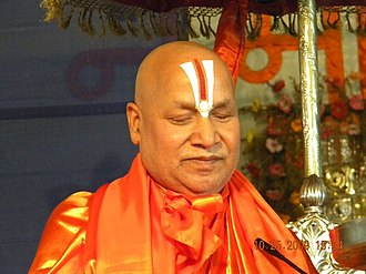 Rambhadracharya - Jagadguru Rambhadracharya delivering a sermon on 25 October 2009 in Moradabad, Uttar Pradesh, India
