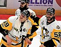 Jake Guentzel and Kris Letang 2017-06-11 2.jpg