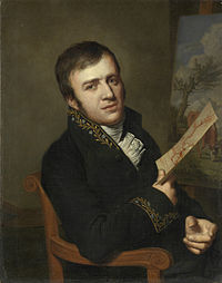 Jan (Baptist) Kobell II (1778-1814). Schilder, in het uniform van een lid van het Koninklijk Instituut van Wetenschappen, Letterkunde en Schoone Kunsten Rijksmuseum SK-A-1170.jpeg