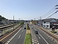 Japan National Route 31 from footbridge in front of Saka Station (west).jpg