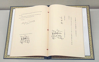 Security Treaty Between the United States and Japan Treaty signed in San Francisco dictating that Japan grant the United States the territorial means for it to establish a military presence in the Far East and prohibited other countries without the consent of the United States to do the same