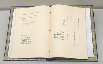 Security Treaty Between the United States and Japan - Image: Japan US Security Treaty 8 September 1951