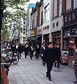 Japanese student in bookstore street, Kanda-Jinbochō, Tokyo (1967-05-02 by Roger W).jpg