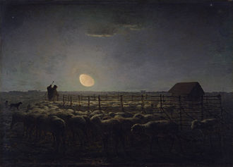 Barbizon - Image: Jean François Millet The Sheepfold, Moonlight Walters 3730