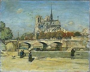 Notre Dame Seen from the Quai de la Tournelle