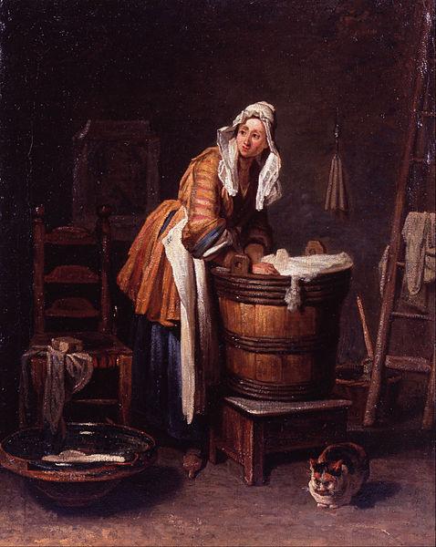 Jean-Baptiste Siméon Chardin: Waschfrau (gemeinfrei)