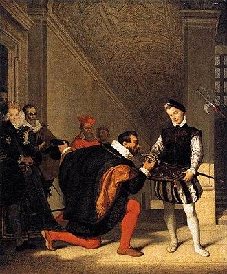 Don Pedro of Toledo Kissing Henry IV's Sword - Don Pedro of Toledo Kissing Henry IV's Sword, 1832, the Louvre