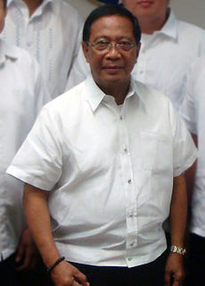 Jejomar Binay Filipino politician, 13th Vice President of the Philippines