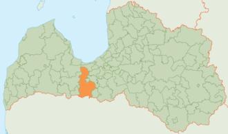 Jelgava Municipality - Image: Jelgavas novada karte