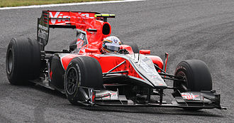 Jérôme d'Ambrosio - D'Ambrosio driving for Virgin Racing as the team's third driver at the 2010 Japanese Grand Prix.
