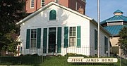 Jesse James's home in St. Joseph where he was shot