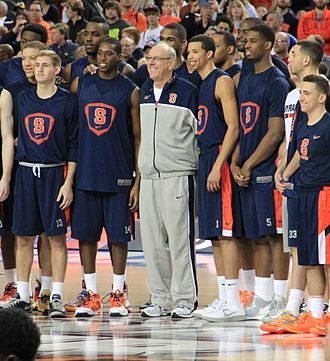 Jim Boeheim - Boeheim with his team at the 2013 NCAA Tournament.