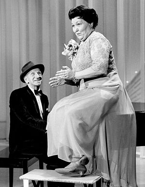 Mrs. Miller - Miller with Jimmy Durante during a 1966 appearance on The Hollywood Palace.