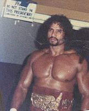 Jimmy Snuka - Jimmy Snuka in 1981 at a wrestling event in the Maple Leaf Gardens arena in Toronto, Ontario, Canada.