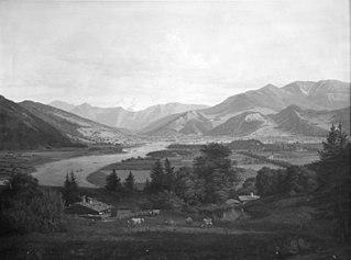 Parti af egnen ved Salzburg