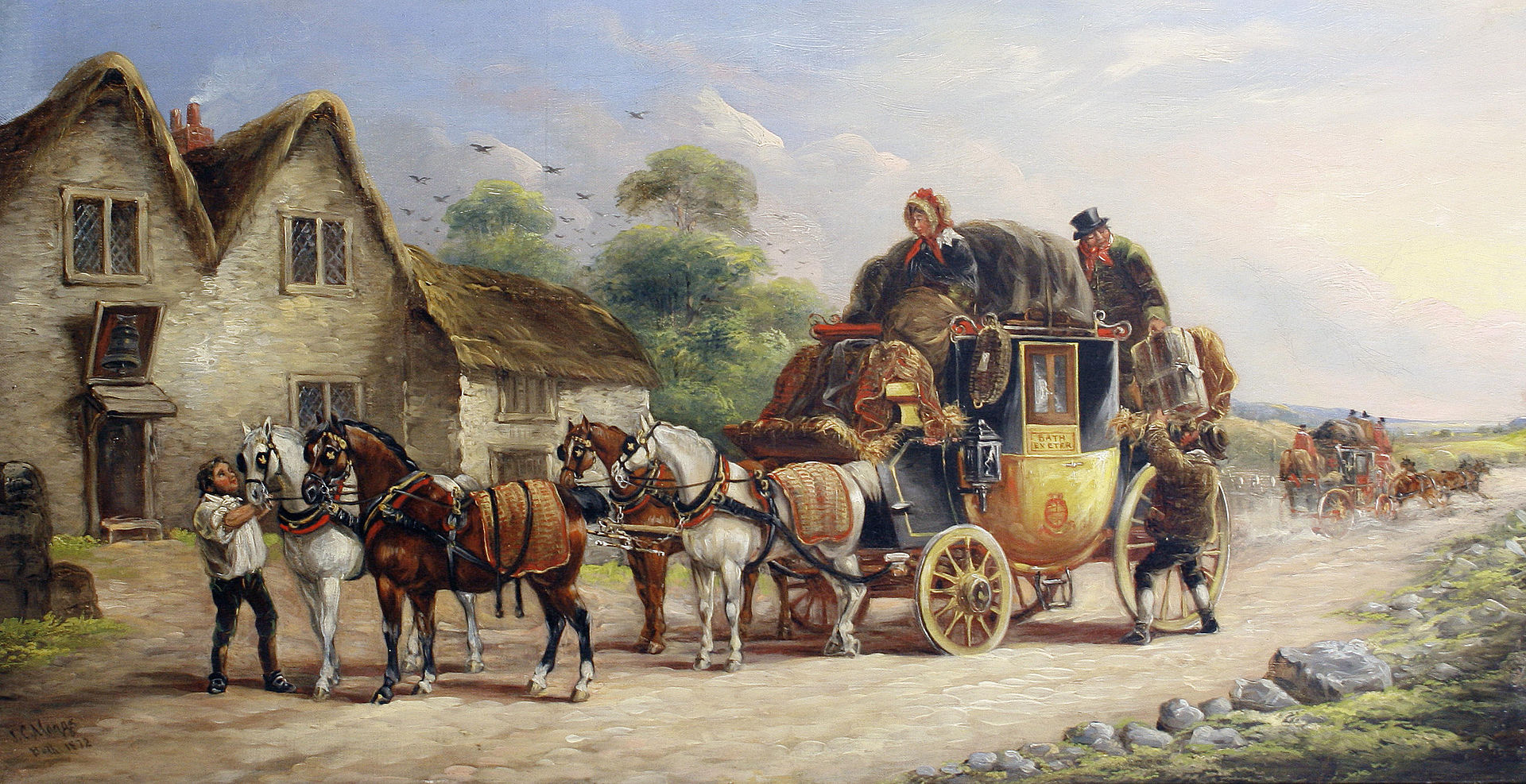 John Charles Maggs - Royal Coach; Bath to Exeter Stage; Manchester to London Coach.jpg