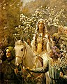 John Collier Queen Guinevre's Maying - Ausschnitt.jpg