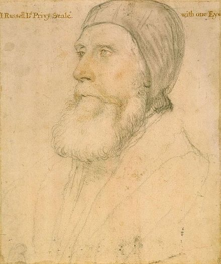 The Earl of Bedford was given Covent Garden in 1552. John Russell, Earl of Bedford, by Hans Holbein the Younger.jpg