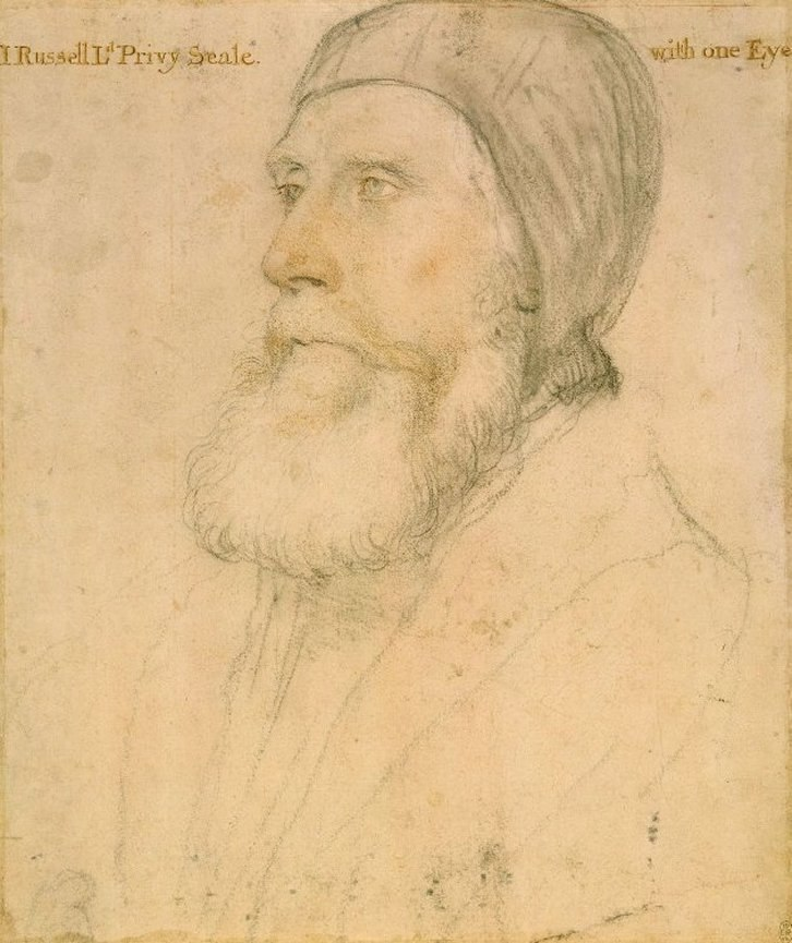 John Russell, Earl of Bedford, by Hans Holbein the Younger