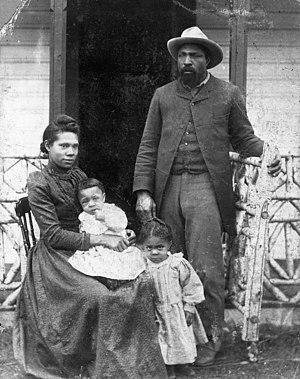 John Ware (cowboy) - John Ware and Family, ca. 1897