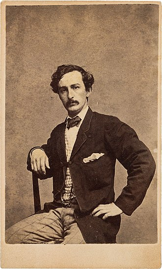 John Wilkes Booth - A Carte de visite of John Wilkes Booth
