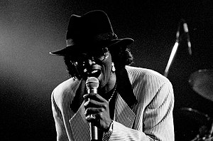 "Johnny ""Guitar"" Watson - Watson performing in Leverkusen, Germany, in 1996"
