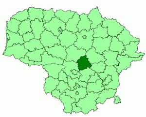 Jonava District Municipality - Image: Jonava district location