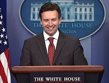 Josh Earnest, White House press briefing.jpg
