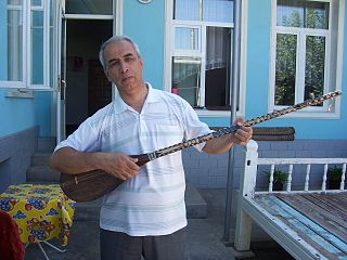 Dutar traditional long-necked two-stringed lute found in Iran and Central Asia